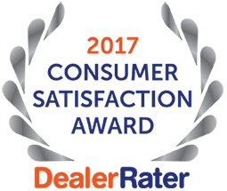 2017 Consumer Satisfaction Award from DealerRater