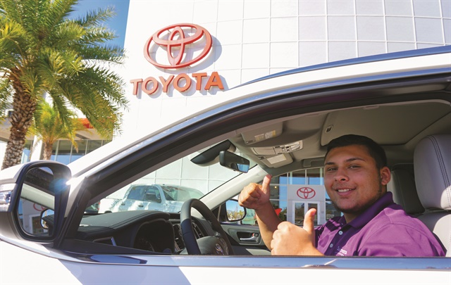 Getting it done at Sun Toyota!